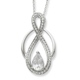 Sterling Silver & CZ Tear of Strength 18in Necklace A special necklace to keep someone close at heart and to be a reminder of strength and courage.