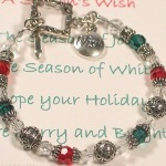 Celebrate the holiday season all month with the Seasons Wish. Created in all white, red or green/red, the Seasons Wish bracelet will be a holiday favorite.