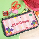 Make going back to school fun with this adorable Beautiful Butterfly Personalized Pencil Case. Durable enough to last and is sure to make your child stand out above the rest. Perfectly fits pencils, markers and small school supplies and easily fits into a desk or backpack.