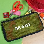 Create a useful tool for back to school when using this tough Custom Printed Army Pencil Case. This handsome Personalized Pencil Case is perfect for keeping all your school gear organized throughout the day.