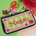 Get your child excited about going back to school with this cute Lovely As A Rose Pencil Case personalized with her name. This Custom Printed Pencil Case is roomy enough to fit pencils, pens, markers or any small school accessories yet its small enough to fit perfectly in a desk or backpack.
