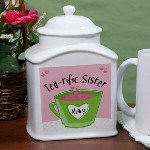 Sit back and relax while enjoying a delicious cup of tea from your very own Personalized Tea Jar. This Personalized Tea Bag Holder is sure to look great on your kitchen counter and makes a wonderful gift for any tea drinker in your life.