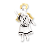 Whether the beginning of the season or the end, give a special coach a gift of appreciation and encouragement. Our Coach gift angel pin is a thoughtful gift idea. May this coach angel guide you, give you patience, strength and encouragement for a great season. Silver and Gold toned with a crystal stone Gift box