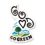 Show your commitment to a greener earth with our Go Green Angel Gift Pin. Purchase for yourself or as a gift for someone who is dedicated to the environment.