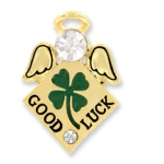 Send the luck of the Irish to someone special. Our Angel of luck pin makes a meaningful and keepsake gift for graduations, encouragement or during special events in a loved ones life. Let them know the Irish angels are watching over them.