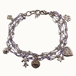 "Celebrate a special 18th birthday with a keepsake and unique gift idea. Our woven, link and charm bracelet is a delicate and thoughtful gift idea for the ""legal"" birthday girl."