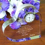 "Celebrate a special love with our Id Choose You Again personalized clock. Personalized Wedding, Birthday or Anniversary Gift. Poem reads: Everyday that passes I feel that I love you more I know and feel that you are my Perfect companion and friend And I'd choose you again… And again… And again! Our elegant clear Personalized Keepsake measures 5""x5"" with edges measuring 1"" thick featuring a silver edged timepiece with quartz movement."