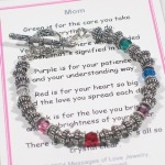 We could never remind a mom enough just how special she is. The Mom color bracelet can remind her everyday all the important qualities that she has that we often forget to show appreciation for. Whether a special birthday, mothers day or other special event, the mom color bracelet is a keepsake gift she will treasure.