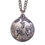 My First Penance Personalized Necklace Our charming My First Penance Personalized Necklace will bring remembrances of that special day. Personalize your Sterling Silver My First Penance Personalized Necklace with any three initials. Makes a great gift for any Godchild.