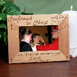 Place your most treasured Confirmation photograph inside this handsome Personalized Confirmation Picture Frame to remember this momentous occasion for the entire family. Confirmation Picture Frames reads: ...grow in the grace and knowledge of our Lord. -2 Peter 3:18