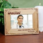 Old world charm enhances our engraved Doctor Frame. More than just a picture frame, our gift frame looks stunning hanging on the wall or positioned proudly on a desk. A wonderful gift for Mom or Dad to enjoy every day after their Son or Daughter has graduated from Medical School, celebrate a special day like Bosses Day or Doctors Day or even as a holiday gift idea.