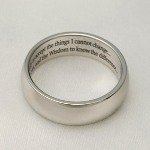 This high polished ring is beautifully engraved inside with the Serenity Prayer. The perfect gift for a friend or loved one.