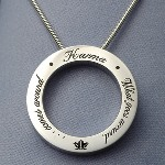 A great gift for a special friend. Pre-engraved with the message: Karma, what goes around comes around.