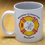 Outfit the entire Fire Department with their own Personalized Fire Department Coffee Mugs. Great Personalized Gifts all of the men & women in the fire station will love.