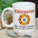 Fighting Fires, Saving Lives and Serving the Community are all parts of a busy Firefighters day. Give your proud firefighter a Custom Printed Firefighter Coffee Mug for enjoying the slower times in the fire house. Our Personalized Firefighter Coffee Mug is a unique reminder that he is always loved at home. Our Personalized Coffee Mugs are sure to warm his spirits on Fathers Day as well.