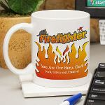 Personalized Firefighter Coffee Mug - Custom Printed Fathers Day Coffee Mug Coffee for a firefighter makes any challenging day a little less stressful. Give your favorite Firefighter this Colorful & Personalized Firefighter Coffee Mug to remind him, he is always loved at home. Our Personalized Coffee Mugs are sure to warm his spirits on Fathers Day.