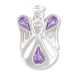 Our Angel of Friendship pin is a special and meaningful gift idea to give to a friend any time of year. Silver toned with amethyst crystals along with a meaning card make the gift a truly memorable keepsake.