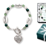 May this celtic knot of friendship be forever at your side, to bring you love and laughter and lots of Irish pride! Silver like beads, green glass crystals and pearl like beads make this a great gift to share with friends and family. A perfect gift to give for St. Patricks Day, as a friendship gift or any time gift.