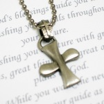 Celebrate a special occasion or celebration with our Special Prayer Guys Cross Necklace. Pewter Cross Necklace on ball chain.