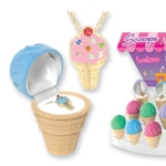 "ce Cream You Scream We all Scream for Ice Cream. Great for parties, summer time fun or any time gifts...Grab a scoop today! Crystal Necklace Product Features Include: * Genuine European Crystals * Layered In 18 Kt. Gold * Adorable ""Ice Cream"" Keepsake Box"