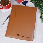 Your favorite Medical Doctor will be jotting down notes in style when he or she uses this Personalized Medical Leather Portfolio. This unique leather portfolio is also a perfect Personalized Graduation Gift for a new doctor just starting out.