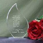 Memorial Keepsake reads: Our Personalized Memorial Tear Keepsake makes a beautiful Memorial Keepsake to honor your deceased family member or close friend.