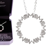 A Mothers Love is forever. A precious gift to treasure. Warmth on which you can depend. Like this sparkling circle, it has no end. This beautiful European crystal and sterling silver finish is a great gift idea to give to mom for a holiday gift, birthday gift or any time of the year gift.