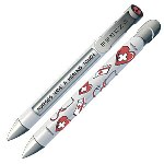"The #1 Nurse Pen provides a useful and unique way to say ""THANKS!"" to the #1 Nurse in your life. These pens are more than just a high quality writing instrument - they have 4 messages that rotate with every click of the pen to spread happiness. Give your #1 Nurse a Greeting Pen. This special gift will help them remember your gratitude and thanks every time they use their pen. Greeting Pens are better than greeting cards because Greeting Pens are used every day, while cards are read once and stored away."