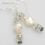 Our swarovski crystal and swarovski pearl earrings match our retirement gift jewelry. Looks great alone or with the set.