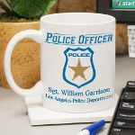 Being a member of the Police Department is a honorable position. Only a few make the grade and your favorite Police Officer is one. Honor your Police Officer with this distinctive Personalized Police Officer Coffee Mug. Personalized Coffee Mugs make unique police gifts perfect for the entire police station. A thoughtful gift for Dad that lets him know he is always loved even when working a long shift.
