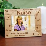 Being a nurse is a profession which takes great caring, patience & kindness. Remember your favorite nurse with a Personalized Nurse Picture Frame which they can display their favorite photograph in. An Engraved Nursing Picture Frame also makes a perfect Personalized Graduation Gift from Nursing School.
