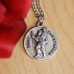 "St. Christopher is a Catholic Patron Saint, true he is for travellers, but he has patronage over many, many things, send Gods blessings and safety with our personalized St. Christopher Medal Pendant. This thoughtful & inspiring personalized gift will be a treasured keepsake over the many years. Our stainless steel chain measures 20"" and round sterling silver medallion measures 3/4"" in diameter. Includes FREE Personalization. Personalize your Pendant with up to three initials."