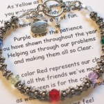 The teacher bracelet is a special gift to give to a teacher for the holidays, teacher appreciation week or as the end of a school year gift. Each bracelet is gift boxed with a poem/meaning card and the gift bracelet. The bracelet gift makes a special end of year or teacher retirement gift.