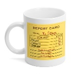 It's Teacher's Appreciation Day! Want to give a creative gift? This mug is an excellent choice for your favorite teacher. The Teacher Report Card Coffee Mug can be personalized with a special message to help your teacher remember you for many years to come. Teachers will enjoy having their very own mug at school to grab when they need it. This bright white hard coated ceramic mug has a glossy finish and holds 11 ounces of your favorite drink.