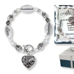 Give a special gift to someone you know who dedicates her time to volunteering. The volunteer heart charm lets her know just how special she is. Through commitment, care and dedication our volunteers make a difference in the world. Silver toned beads with a toggle clasp. Show your appreciation to someone special with one of our volunteer gift ideas...