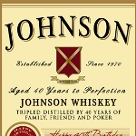 Jameson whiskey - the best selling Irish Whiskey in the world! Celebrate a special occasion or celebration with a personalized Jameson whiskey label. Great for graduation gifts, boss gifts, 40th, 50th birthdays or even retirement gifts.