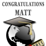 This unique personalized Graduation Gift label is perfect to give as a unique gift for him or a unique gift for her. A special momento to celebreate with. Personalize with a name, year and even a the school or short message if you would like.