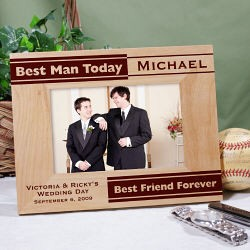 Personalized Best Man Picture Frame :  best man frame best man gifts personalized best man picture frame bridal party