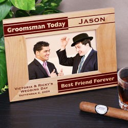 Personalized Groomsman Picture Frame from moljewelry.com